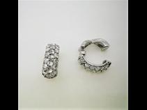 K18WGダイヤモンド(1.10ct)ピアリング