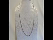 K18WGルビ-(2.5ct)・ダイヤモンド(7.4ct)ネックレス 70cm