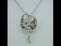 K18WGダイヤモンド(0.80ct)ペンダント