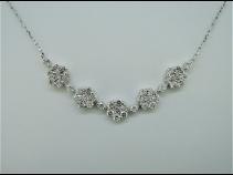 K18WGダイヤモンド(1.02ct)ネックレス