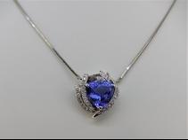 タンザナイト・ダイヤモンド(5.253ct・0.54ct)ペンダントネックレス