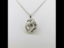 PTダイヤモンド(中石1.019ct脇石0.160ct)ペンダントネックレス