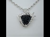 PTブル-トルマリン(2.069ct)ダイヤ(0.56ct)ペンダントネックレス