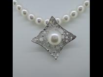 Sil南洋真珠(13mm)ペンダントブロ-チ