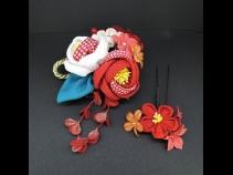 ちりめんつまみコ-ム・ミニ2点セット 赤/白