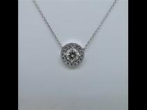 K18WGダイヤモンド(1.523ct)ネックレス