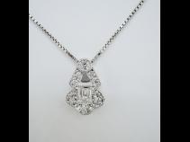 Pt ダイヤモンド(0.401ct) ペンダントネックレス
