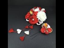 ちりめんつまみコ-ム・ミニ2点セット 白/赤