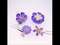 ミニフラワー4点セット 紫