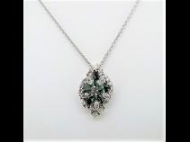 PTアレキサンドライト(1.675ct)ダイヤモンド(1.35ct)ペンダント