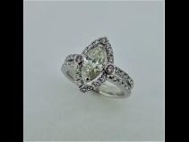 PTダイヤモンド(中石1.00ct、ピンクダイヤ0.06ct、脇石0.26ct))リング