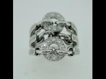 K18WGダイヤモンドリング (0.80ct)
