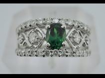 PTグリ-ンガ-ネットダイヤモンドリング (G0.50、D0.59ct)