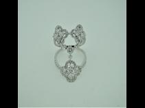 K18WGダイヤモンド(1.91ct)リング