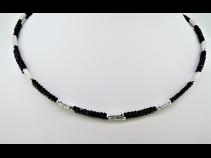 K18WGブラックスピネルマグネットネックレス(70cm)