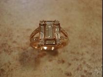 K18ピンクゴールド・ダイヤモンドリング