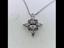 Pt900ダイヤモンド(1.54ct) ペンダントPt850ネックレス