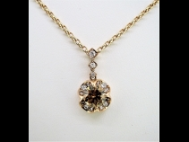 K18PGダイヤモンド(1.004ct・0.21ct)ネックレス