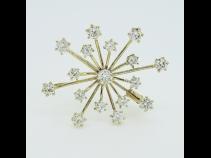 K18YGダイヤモンド(2.0ct)ペンダントブロ-チ