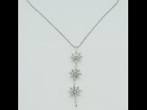 K18WG ダイヤモンド ペンダントネックレス(2WAY)