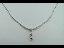 PTK18ダイヤモンド(1.24ct、0.39ct)ネックレス