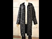 リス/100%カシミヤリバ-シブルコート(95cm)ブラック