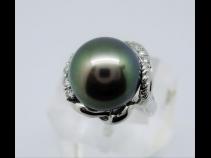 PT南洋タヒチ真珠ダイヤモンド(0.17ct)リング