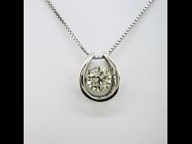 PTダイヤモンド(1.003ct LBY SI1)ペンダントネックレス
