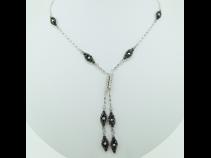 K18WGブラックダイヤ(6.88ct)ネックレス