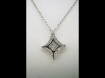 K18WGダイヤモンド(0.50ct)2wayペンダントネックレス