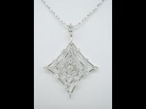 K18WG ダイヤモンド(1.0ct) ペンダントネックレス