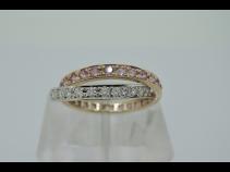 K18ダイヤモンド0.693ct色石1.307ctリング