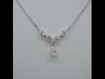 Ptダイヤモンド1.00ct ペンダントネックレス