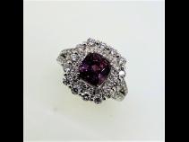 PT950スピネル(1.79ct)ダイヤモンド(1.04ct)リング