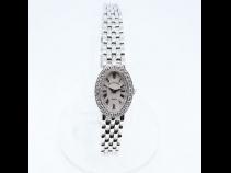 K18WG無垢ダイヤモンド時計