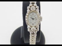 ハミルトン k14WG無垢ダイヤモンド時計