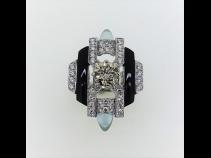 Pt900ダイヤモンド(1.035ct LB VVS2 VG 0.85ct)アクアマリン(0.97ct)リング