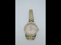 ロレックス K18WG無垢トリコロ-ルダイヤモンド時計 (USED)
