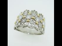 PT900K18ダイヤモンド(0.515ct)リング