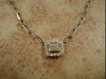 PtダイヤモンドペンダントK18ホワイトゴールドネックレス