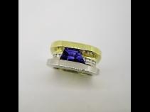 K18タンザナイトダイヤモンドリング