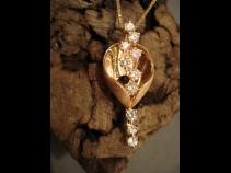 K18ピンクゴールドダイヤモンドペンダントネックレス
