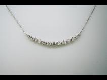K18WGダイヤモンド(0.70ct)ネックレス