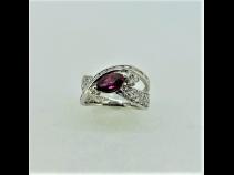 PTルビ-(1.11ct)ダイヤモンド(0.78ct)リング
