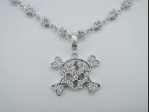 K18WG ダイヤモンド1.17ct ネックレス