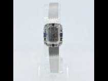 TIFFANY K14WG サファイア・ダイヤモンド時計 (USED)