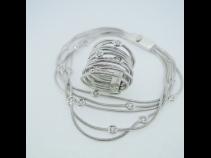 K18WGダイヤ(0.54ct)リング・ブレスレットセット (イタリア製)