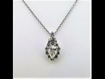 PTダイヤモンドペンダントK18ネックレス(中石0.796ct 脇石0.94ct)