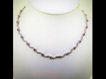 K18WGサファイア(3.68ct)ダイヤモンド(1.68ct)ネックレス