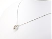 K18WG ダンシングダイヤモンド(中石 0.68ct、脇石 0.12ct) ペンダントネックレス